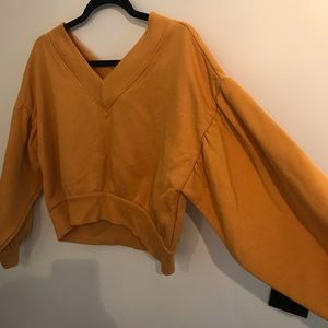 Bell sleeve off the shoulder sweatshirt